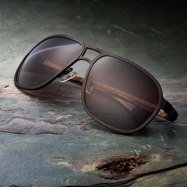 Breed Concorde Brown Carbon Fiber Sunglasses