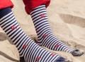 Lobster Stripe Socks