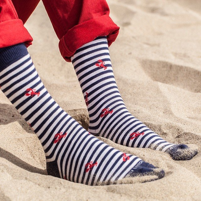 Lobster Stripe Socks