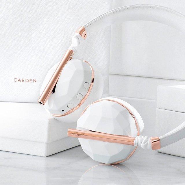 Caeden Linea N°10 Faceted Ceramic & Rose Gold Wireless Headphones