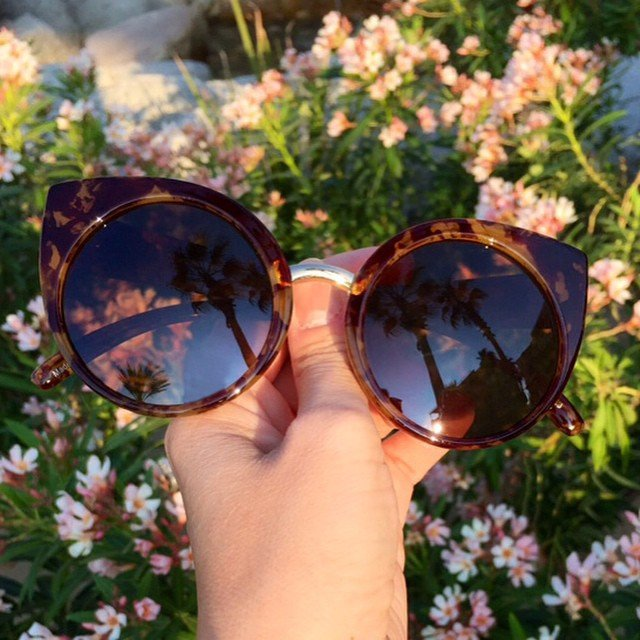 China Doll Tortoise Shell Sunglasses by Quay Eyeware
