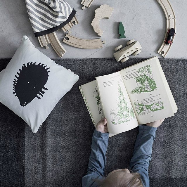 Hedgehog Silhouette Organic Cotton Pillow