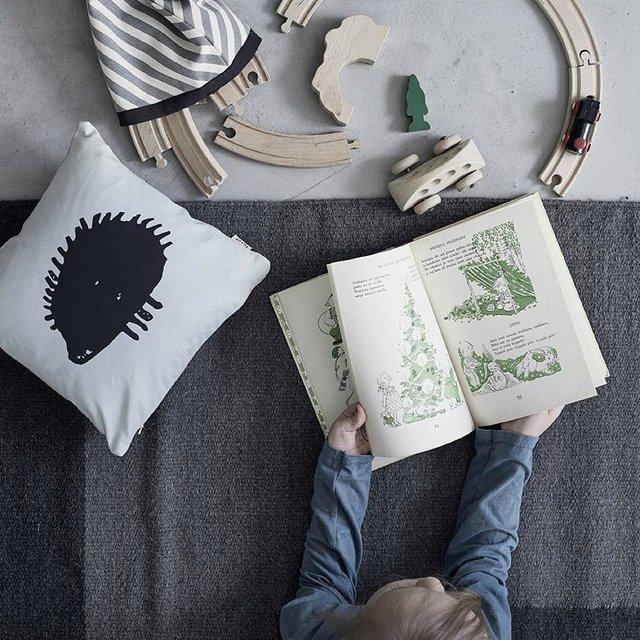 Hedgehog Silhouette Organic Cotton Pillow