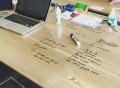 Think Board Clear Peel & Stick Dry Erase Board