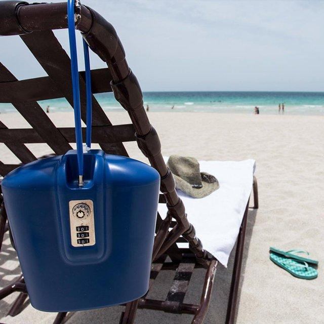 Brazen Blue Portable Safe by Safego