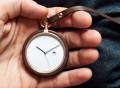 Walnut Calendar Pocket Watch