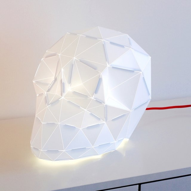 Big Edmond Skull Origami Lamp