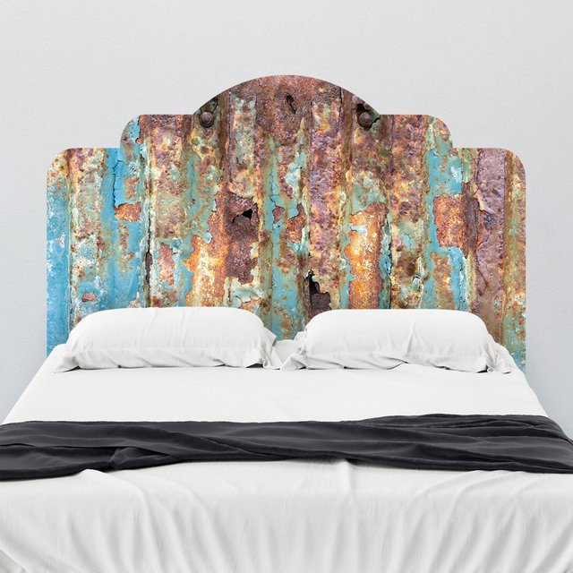 Rusted Metal Headboard Wall Decal