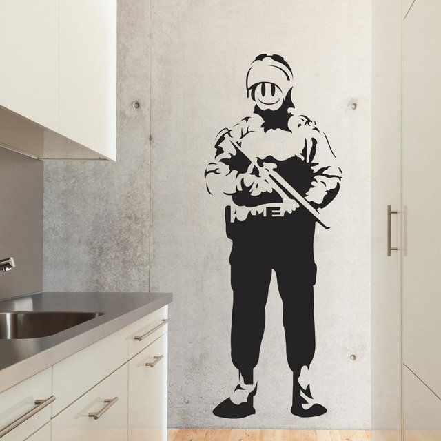 Riot Cop Wall Decal
