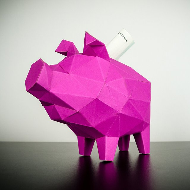 Papertrophy Pink Piggy Bank