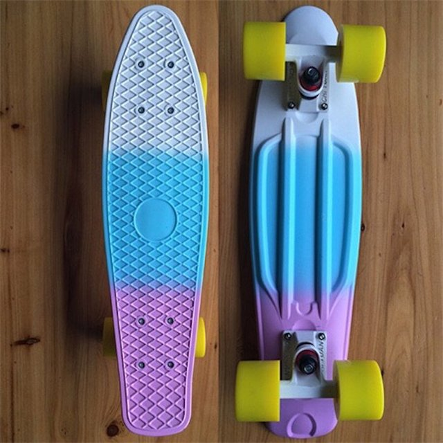 Fades Soda Tricolor Pastel Mini Cruiser Skateboard