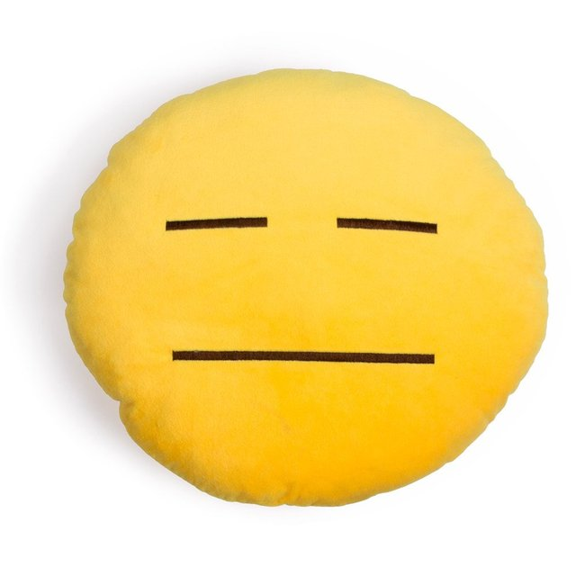 Poker Face Emoji Pillow