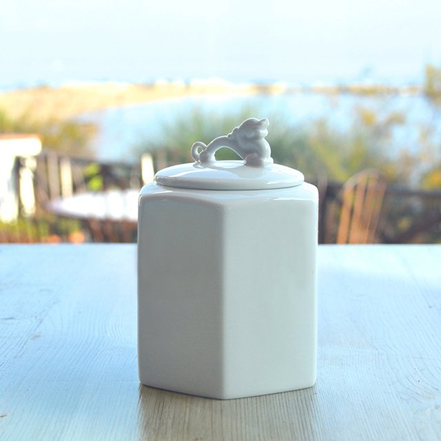 Guardians Small Porcelain Jars