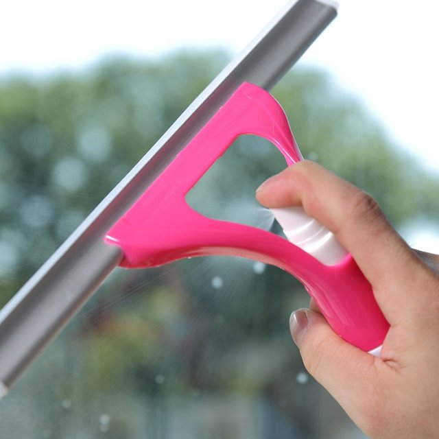 Squeegee with Built in Spray Bottle