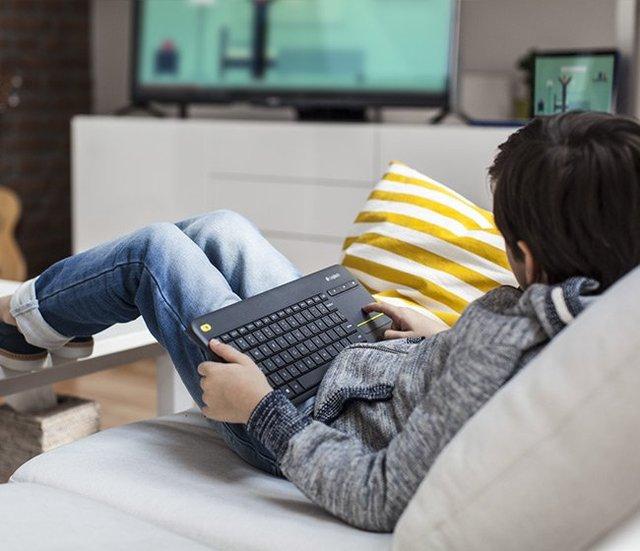 Logitech K400 Plus PC-to-TV Wireless Touch Keyboard