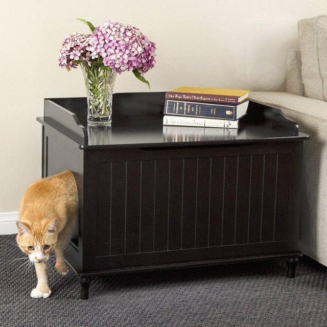 Cat Litter Box Furniture Enclosure