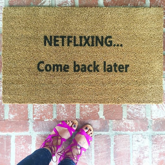 Netflixing Doormat