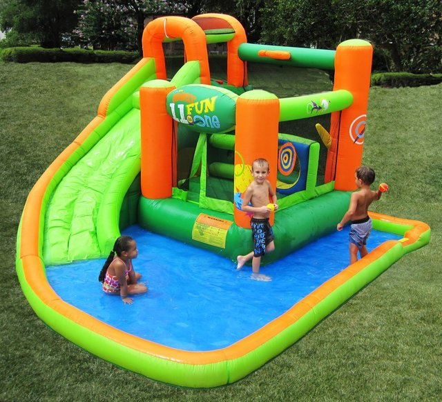KidWise Endless Fun 11-in-1 Inflatable Bouncer & Water Slide
