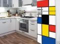 Pop Mondrian Fridge Door Decal