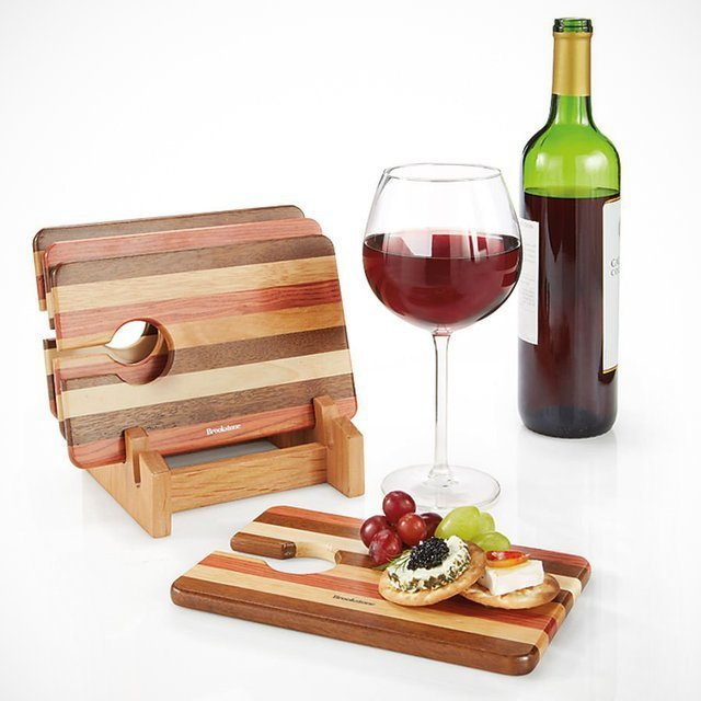 Set of 4 Wine and Snack Trays