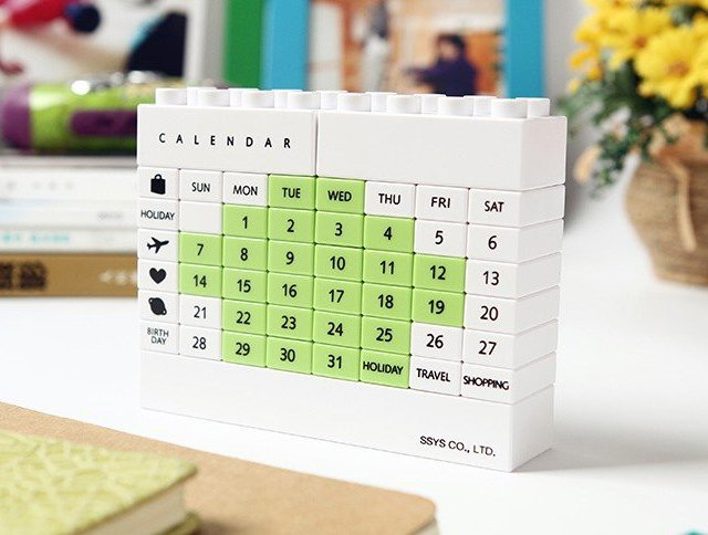 DIY Building Blocks Calendar
