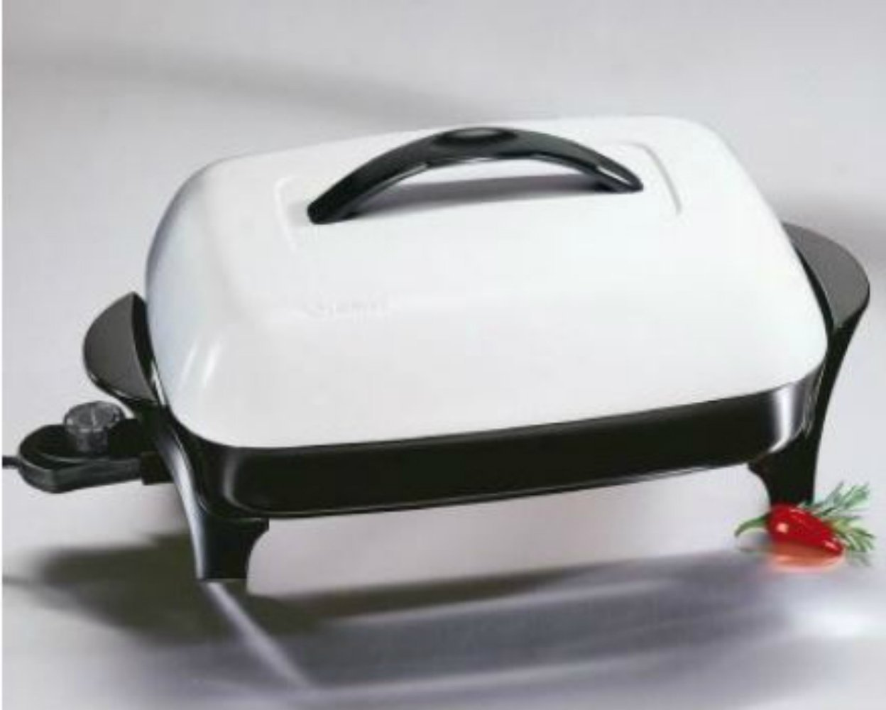 Large Electric Skillet Casserole Dish Frying Pan
