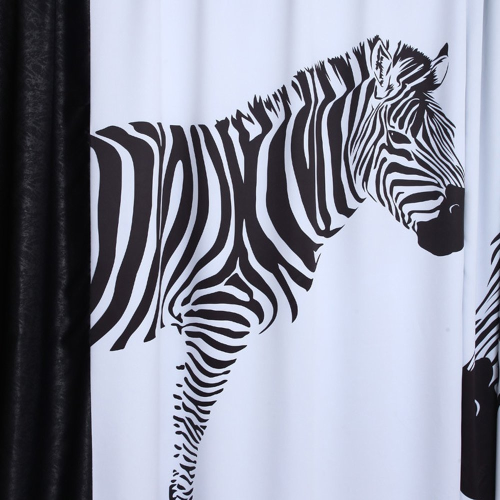 Zebra Pattern Curtains