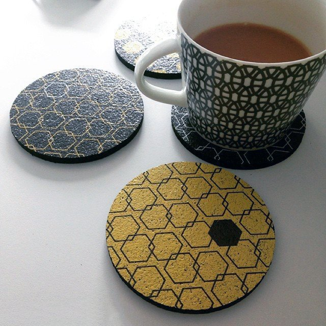 Honeycomb Hex Coasters by Flox Home