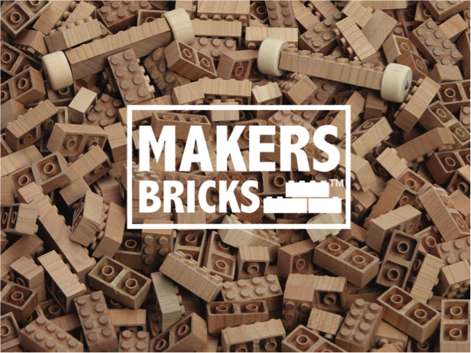 Makers Bricks – 100% Wooden Construction Toys