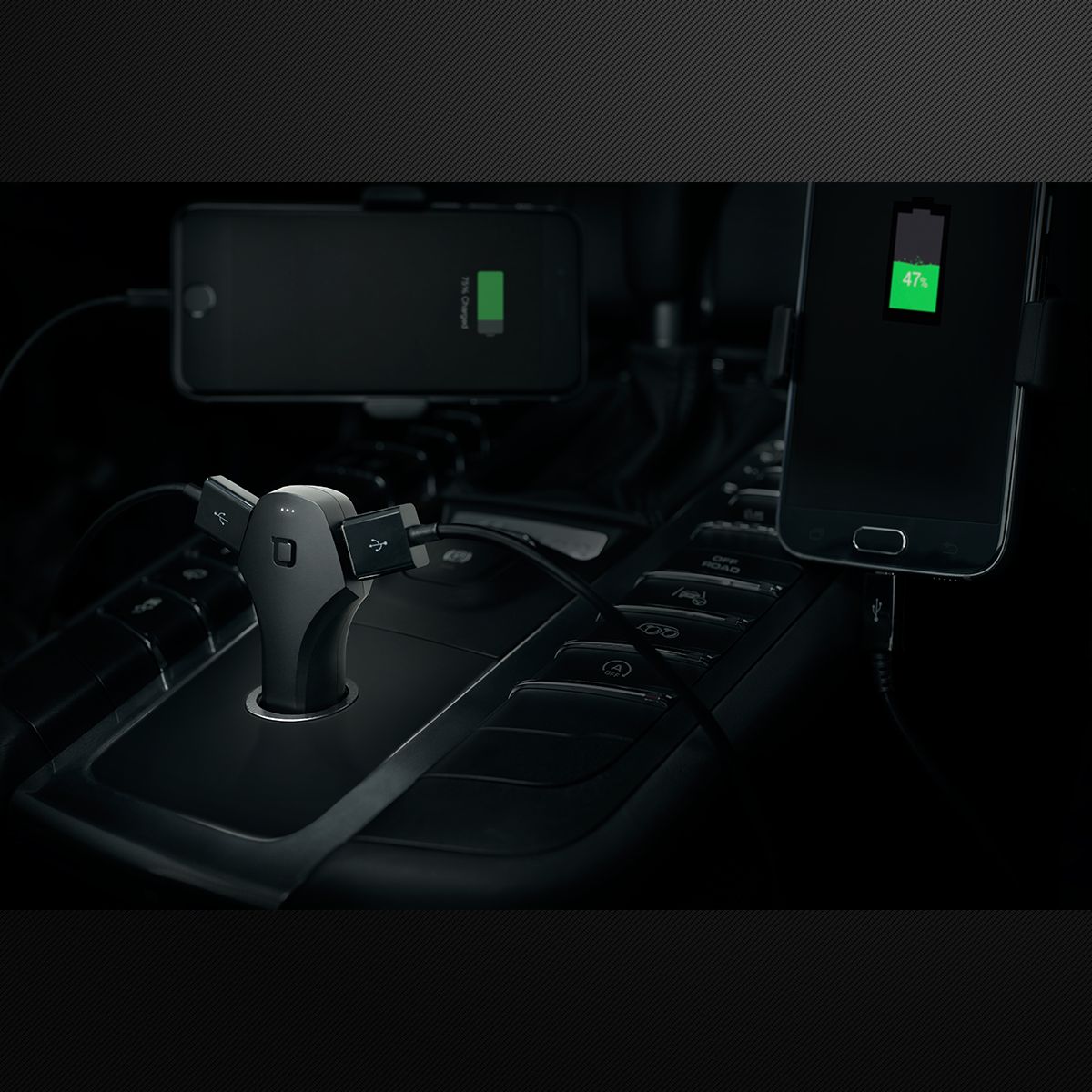 ZUS Smart Dual USB Car Charger & Locator