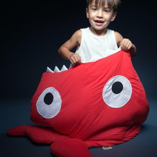 Kids Red Shark Sleeping Bag by Baby Bites