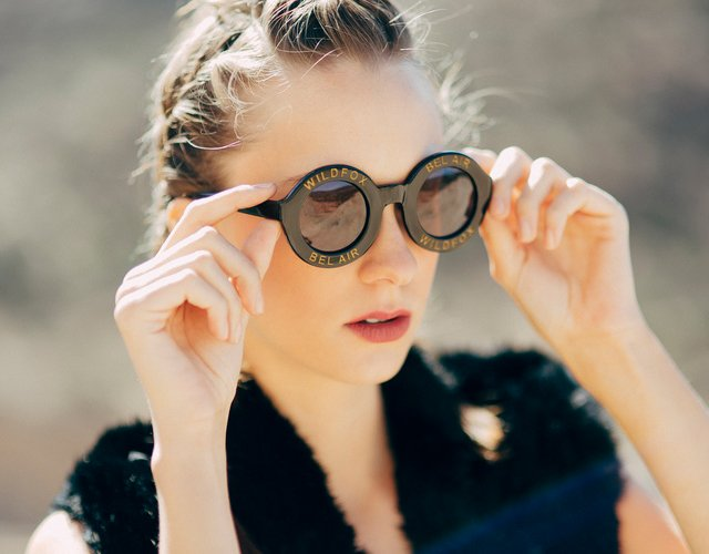 Black Bel Air Sunglasses by Wildfox Sunwear
