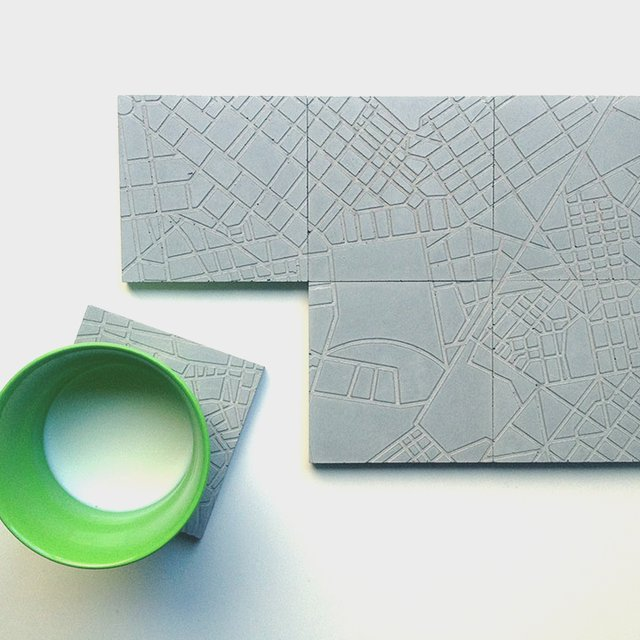 The Concrete Cities Coaster Set by A Future Perfect