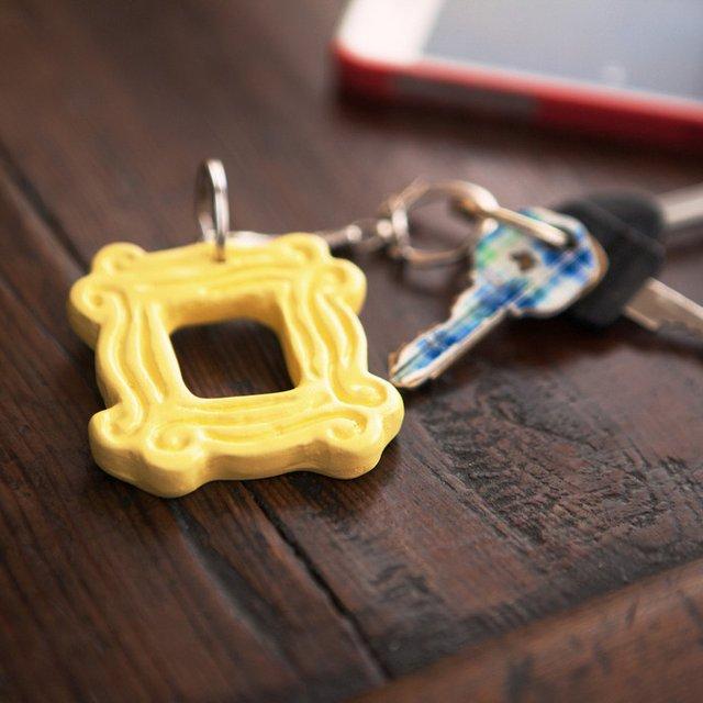 Friends Peephole Frame Keychain