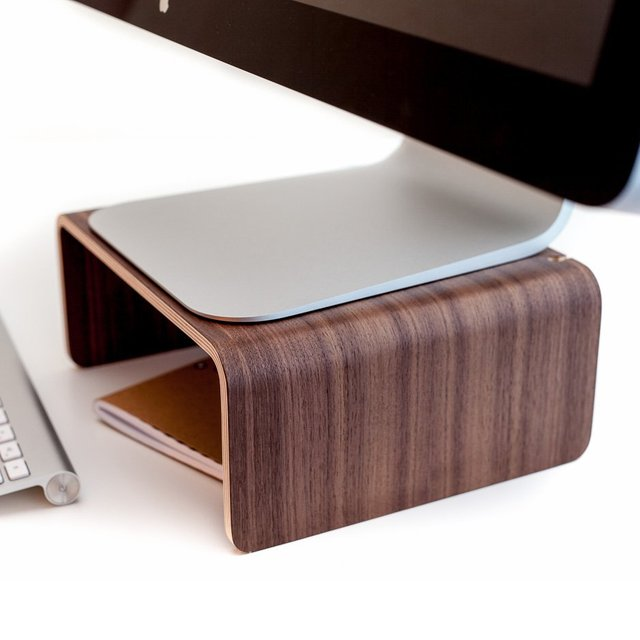 Wooden iMac Display Stand