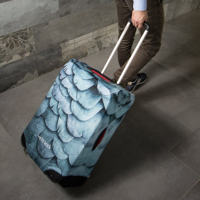 Velosock Blue Bird Luggage Cover
