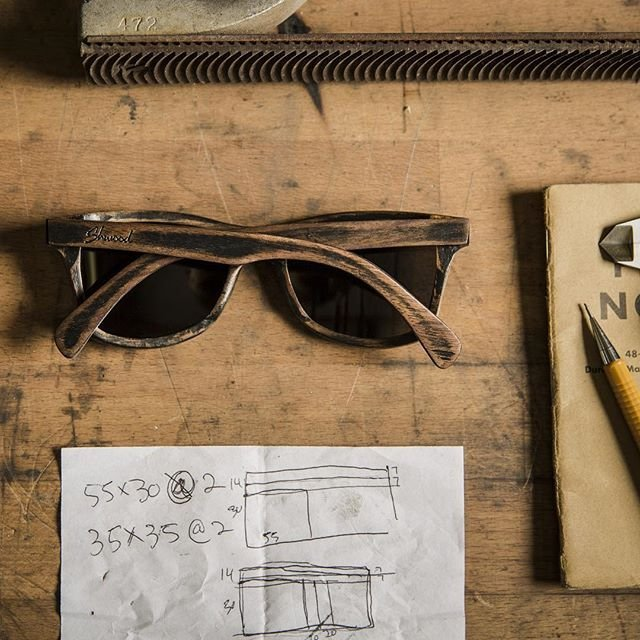Canby Distressed Dark Walnut Sunglasses by Shwood