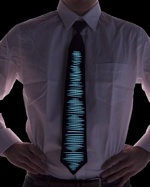 Equalizer Sound-Activated Light Up Tie