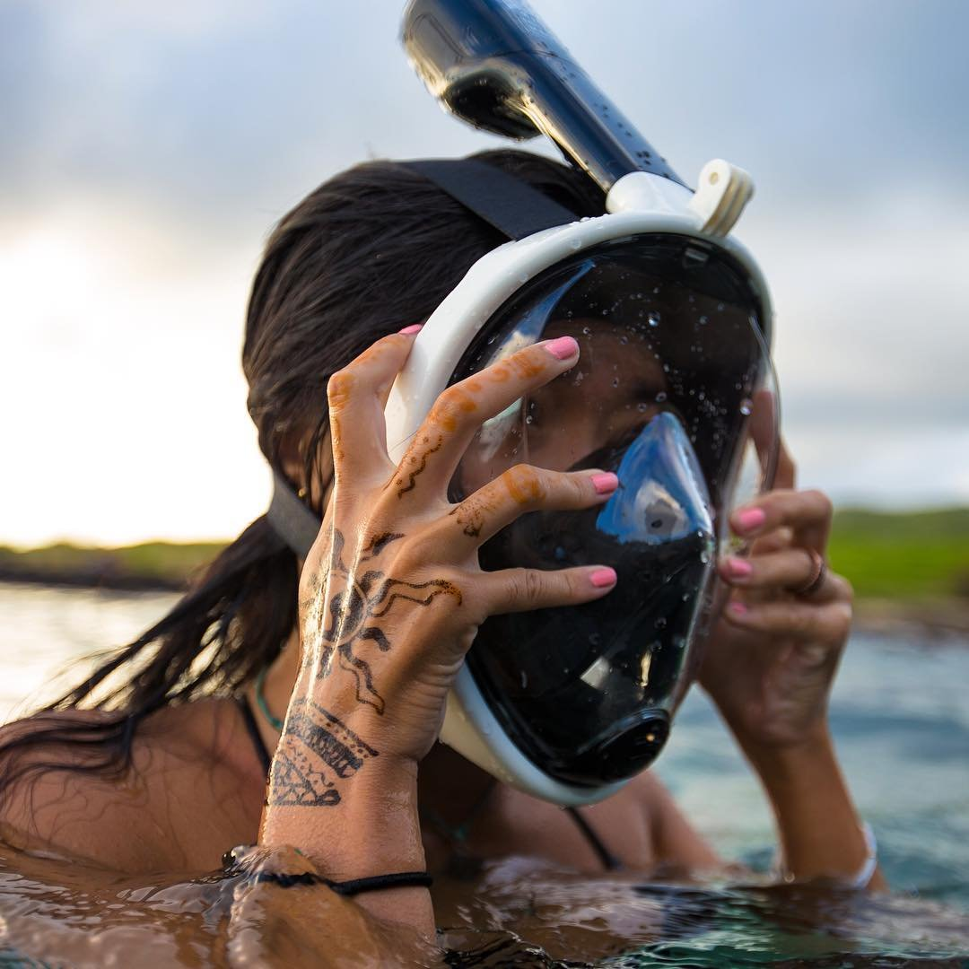 H20 Ninja Full Face Snorkel Mask