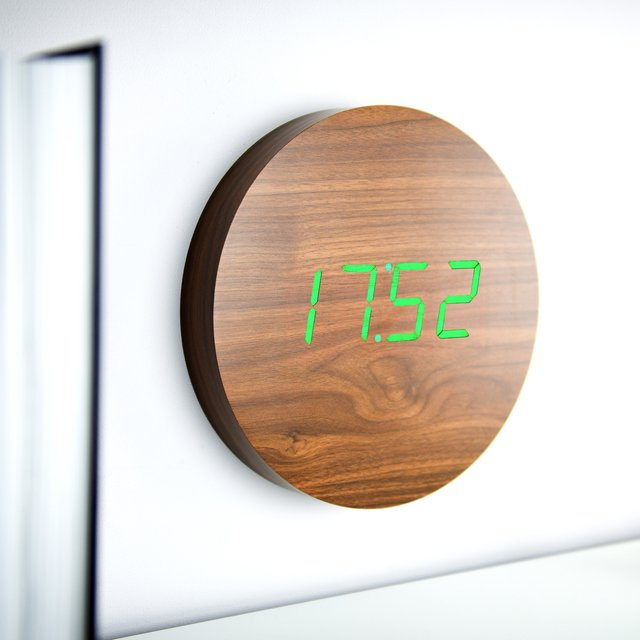 Walnut Wall Click Clock
