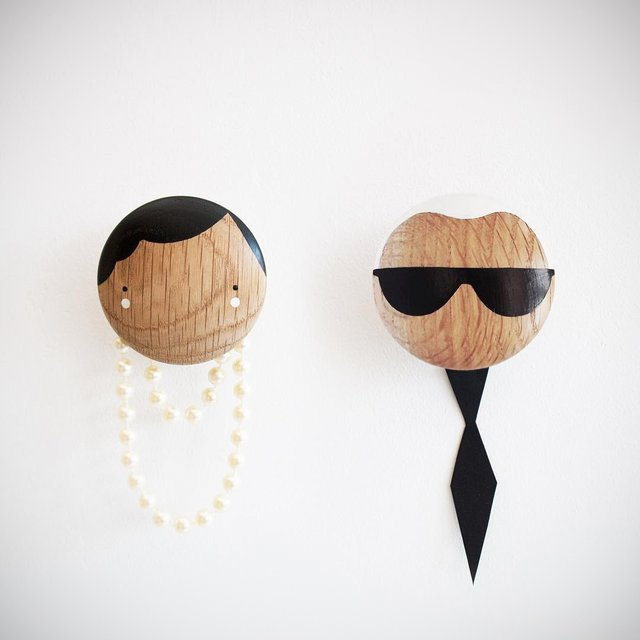 Wooden Wall Hooks by Sketch.Inc and Lucie Kaas