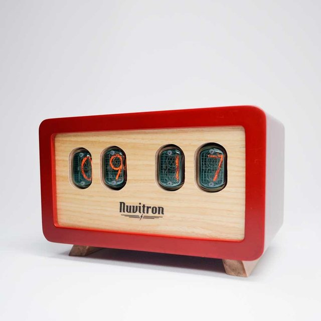 The Red Postmodern Nixie Clock