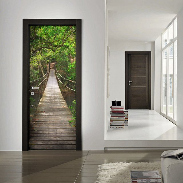 Hanging Bridge Door Mural