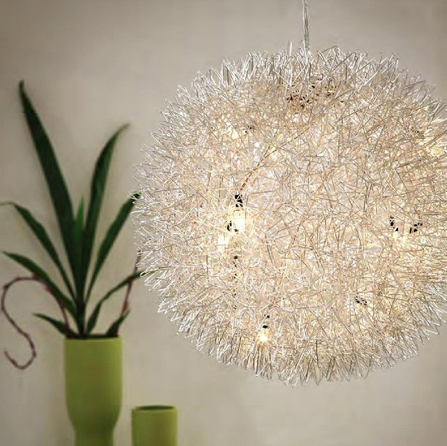 Warp Chrome Ceiling Lamp