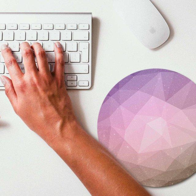 Geometric Space Polygonal Mouse Pad