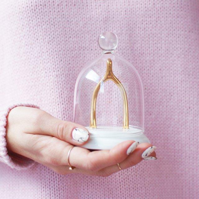 Gold Wishbone Jewelry Holder