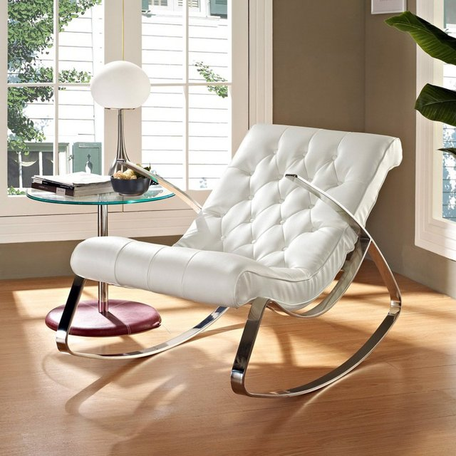 Rodeo White Rocking Chair