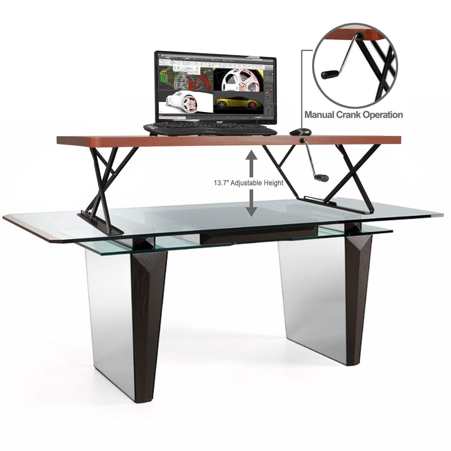 Sit/Stand Adjustable Table Top Desk