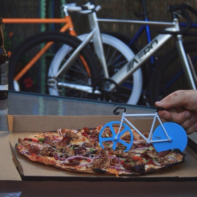 Antartic Fixie Pizza Cutter