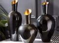 Noir Gold Decorative Vases Set by Tozai